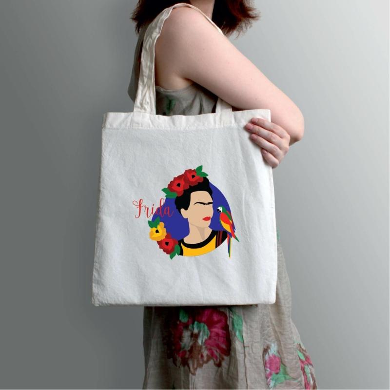 Papagájos Frida   grafikás vászontáska