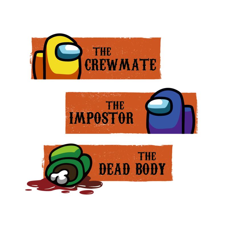 THE DEAD BODY | mintás Among us férfi póló