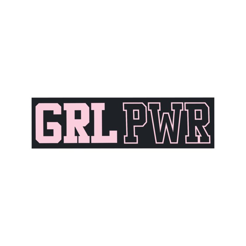 GRL PWR |university stílusú lány póló
