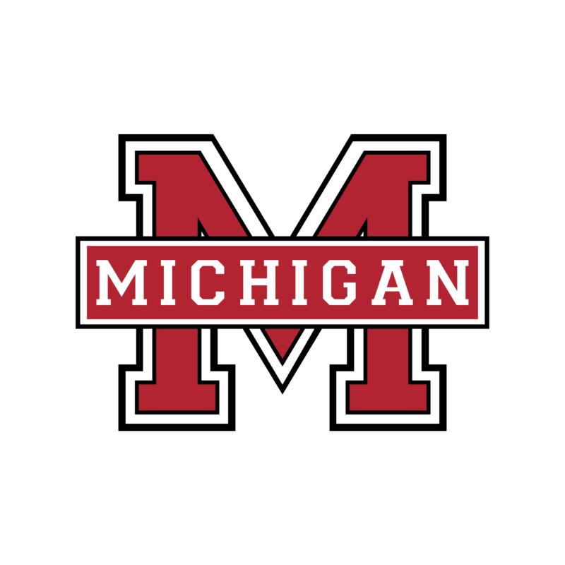 Michigan  university stílusú fiú póló