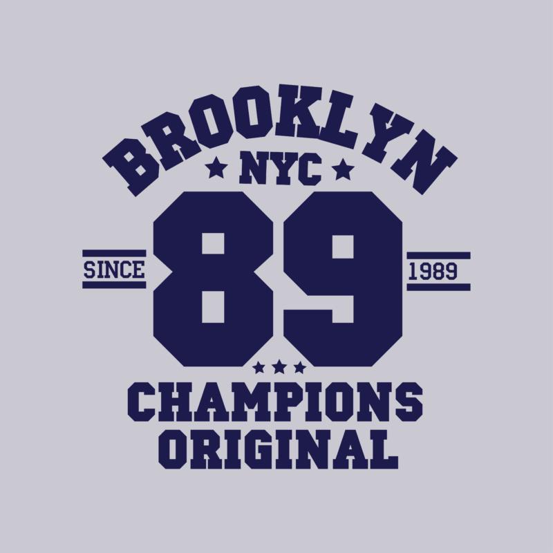 Brooklyn 89  university stílusú női póló