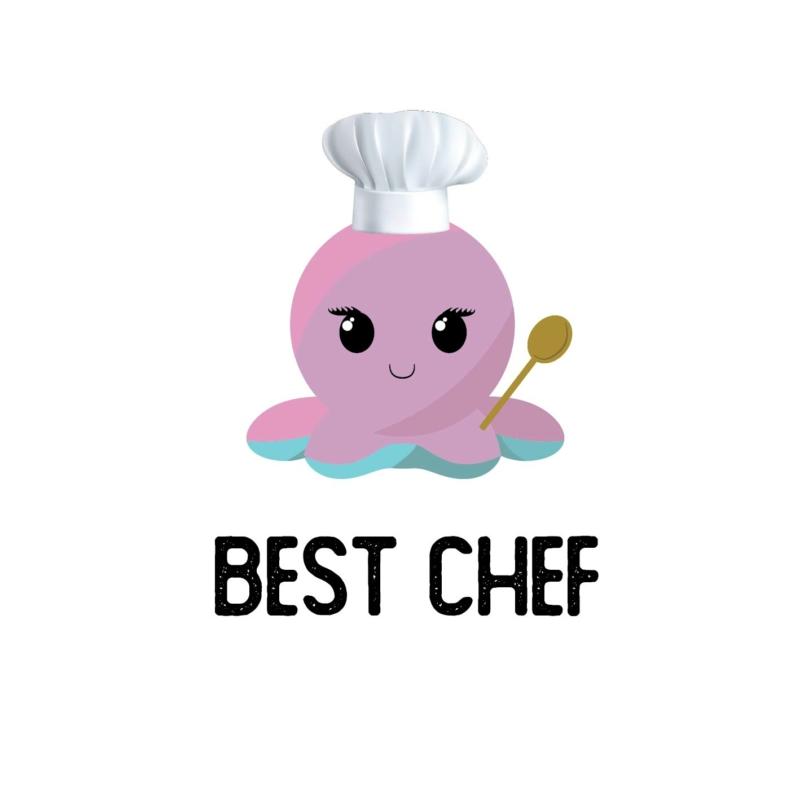 Best chef polip | grafikás páros pamutpóló