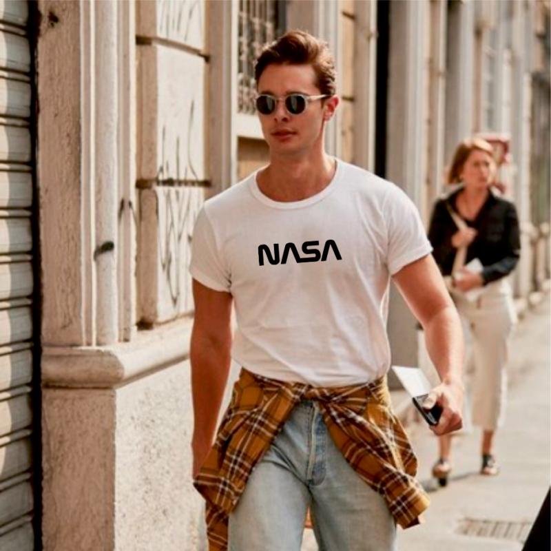 NASA | grafikás férfi pamutpóló
