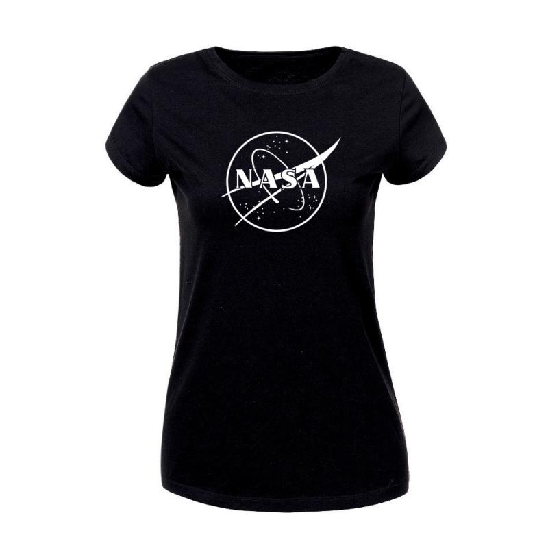 NASA galaxy B/W   grafikás női pamutpóló