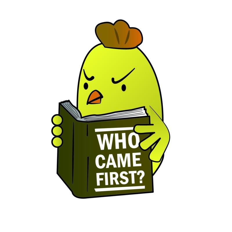 Who came first? | grafikás férfi pamutpóló