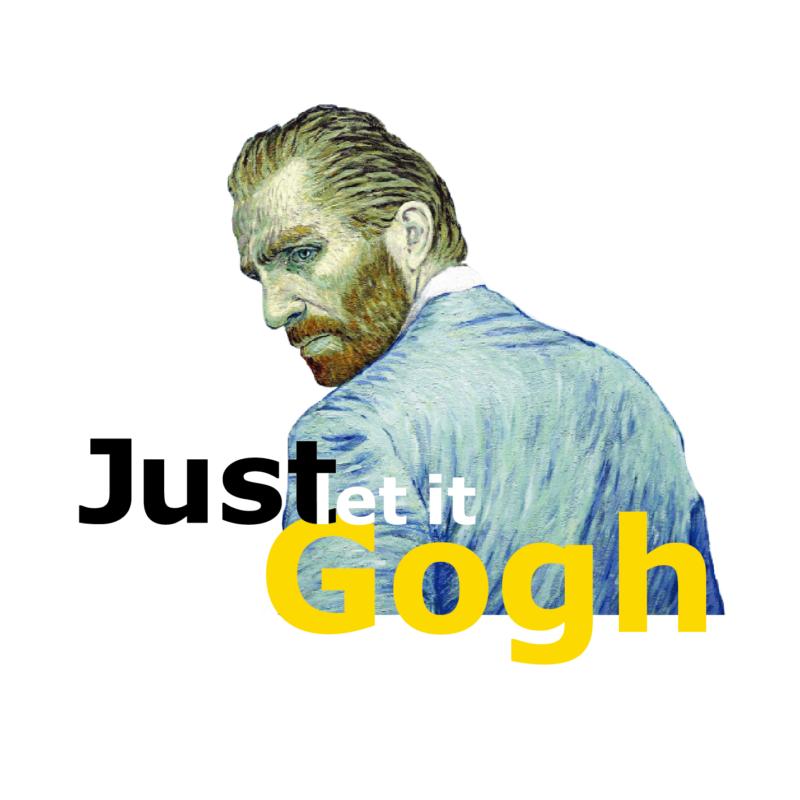 Just let it Gogh   grafikás férfi póló