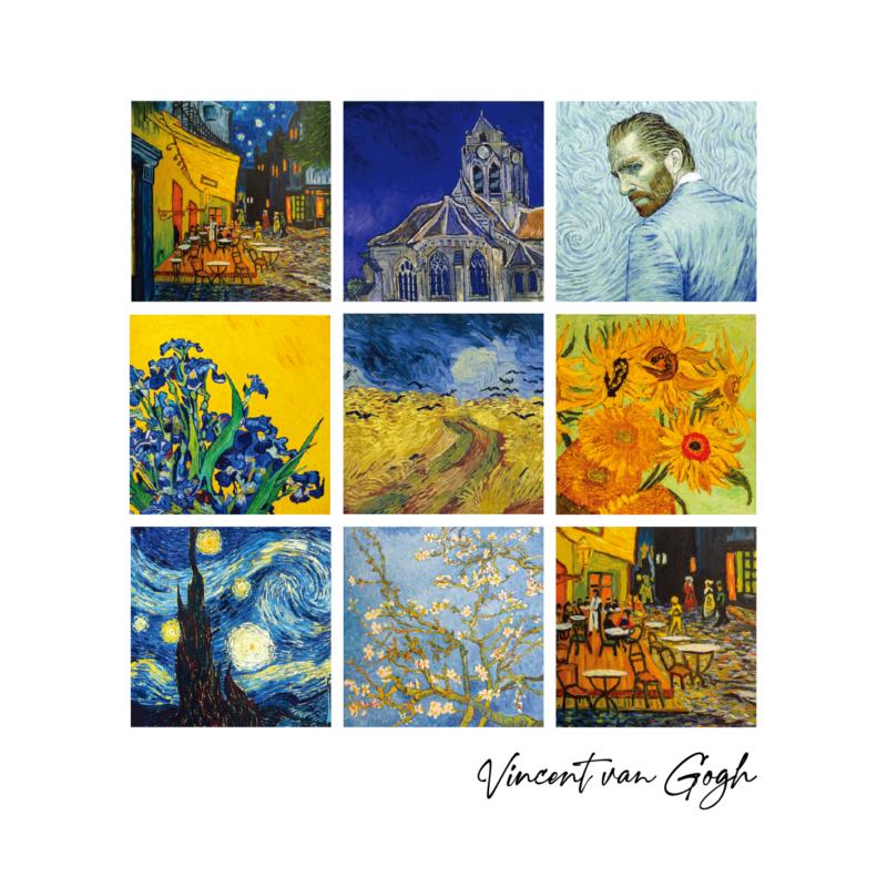 Van Gogh 9 festménye | grafikás férfi póló