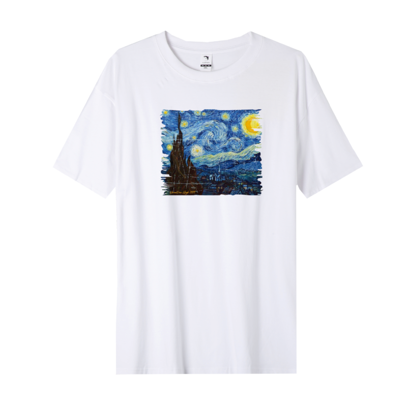 Csillagos éj- Van Gogh | grafikás férfi póló