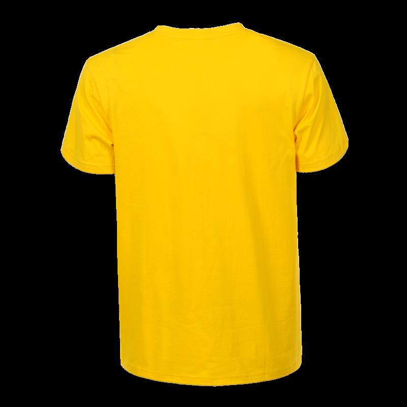 Férfi pamut póló   citromsárga