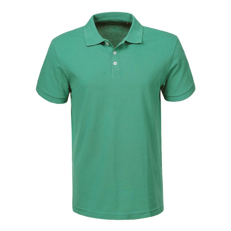 Férfi galléros pamut póló   Benetton zöld