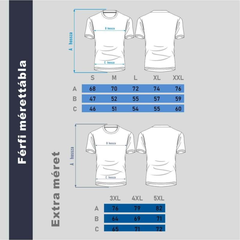 Kék vitorlás Balaton | grafikás férfi póló