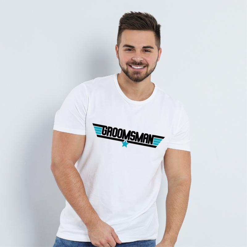 GROOMSMAN   grafikás férfi póló