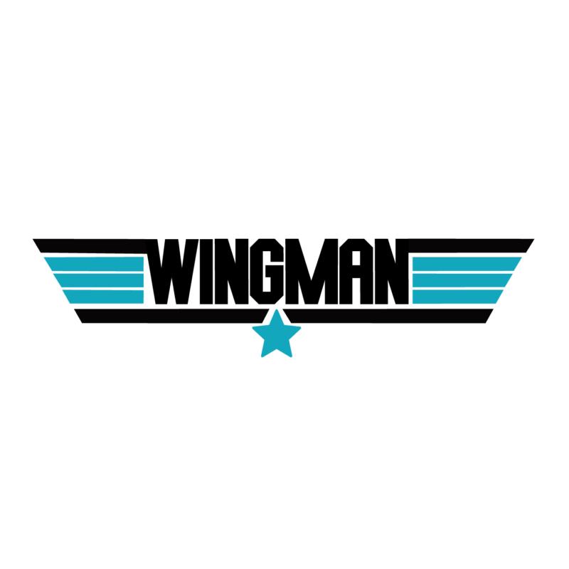 WINGMAN | grafikás férfi póló