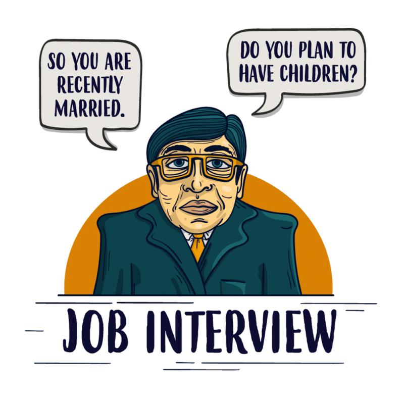 Job interview | grafikás férfi póló