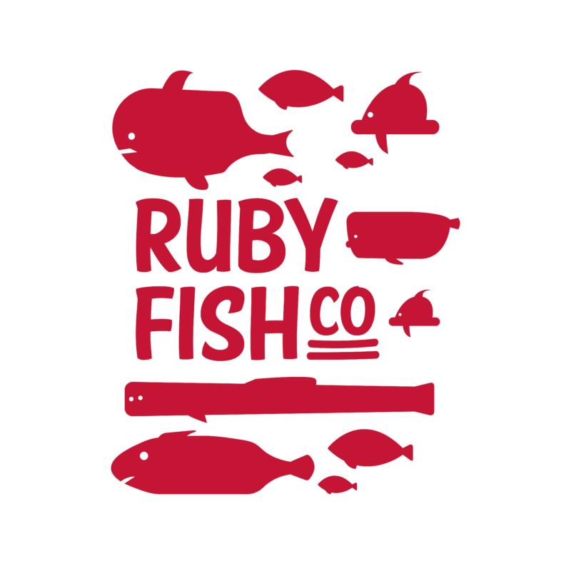 Ruby Fish Co   grafikás férfi pamutpóló