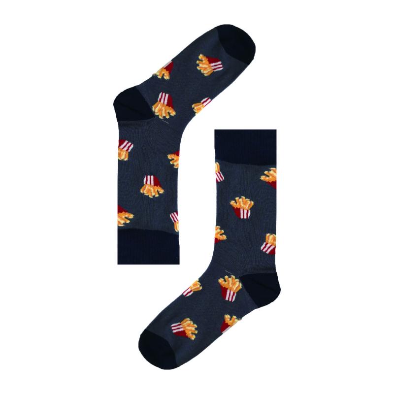 Vidám Krumpli szürke zokni | Férfi VIDAM ZOKNI