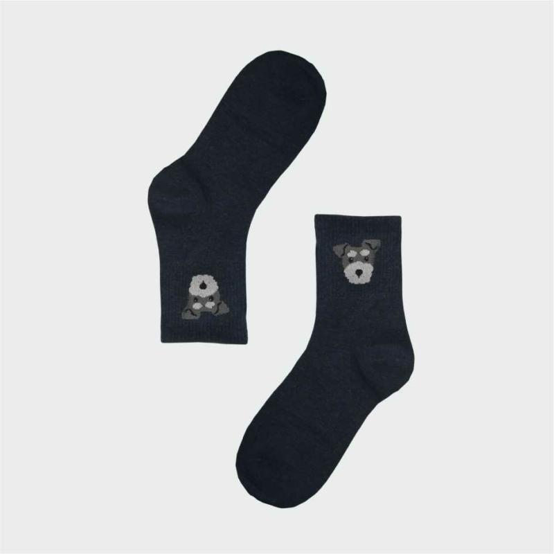 Női kék kutyus zokni | Női VIDAM ZOKNI